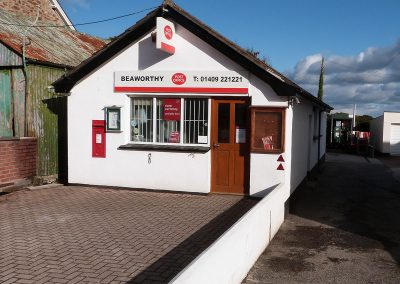 Beaworthy Post Office, 2.5 miles from kingslakes